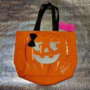 Betsey Johnson Pumpkin With Bow Tote